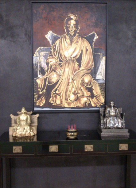 Portrait of ZHANG San Feng by Master Charles-Henri BELMONTE. Picture by my cellphone...
